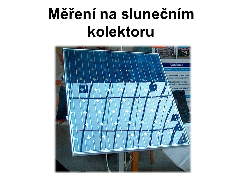 Měření na slunečním kolektoru