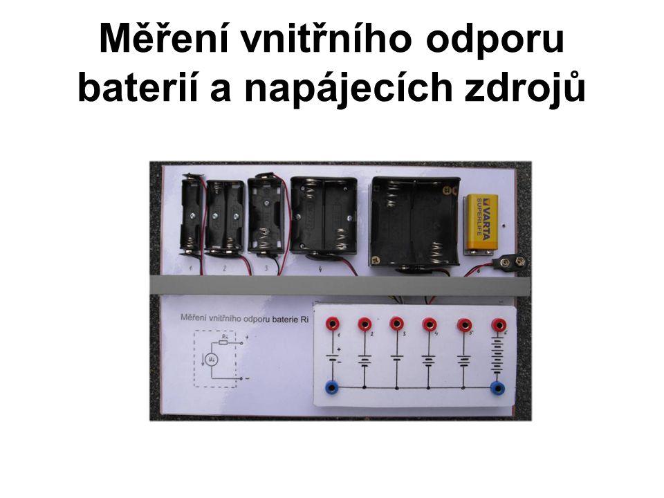 Měření vnitřního odporu baterií a napájecích zdrojů