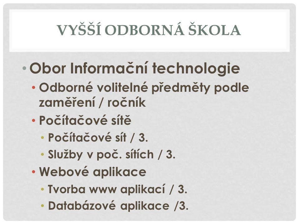 Obor Informační technologie