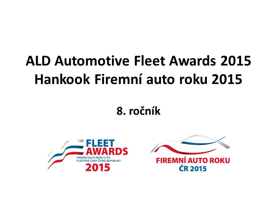 ALD Automotive Fleet Awards 2015 Hankook Firemní auto roku 2015