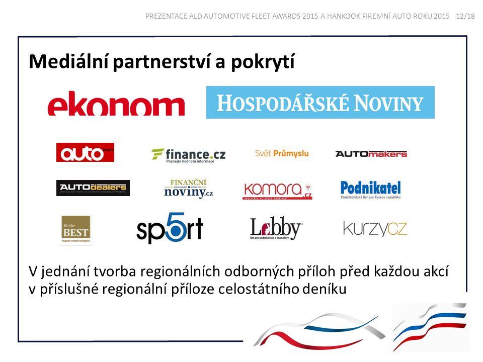 Mediální partnerství a pokrytí