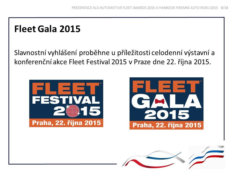 Fleet Gala 2015 Slavnostní vyhlášení proběhne u příležitosti celodenní výstavní a konferenční akce Fleet Festival 2015 v Praze dne 22.