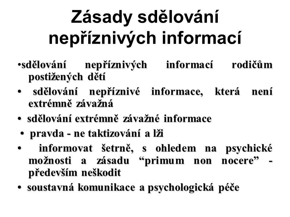 Zásady sdělování nepříznivých informací