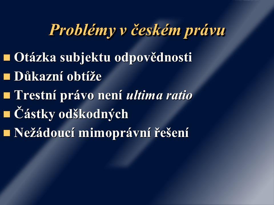 Problémy v českém právu