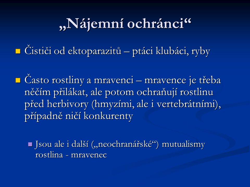 """""""Nájemní ochránci Čističi od ektoparazitů – ptáci klubáci, ryby"""