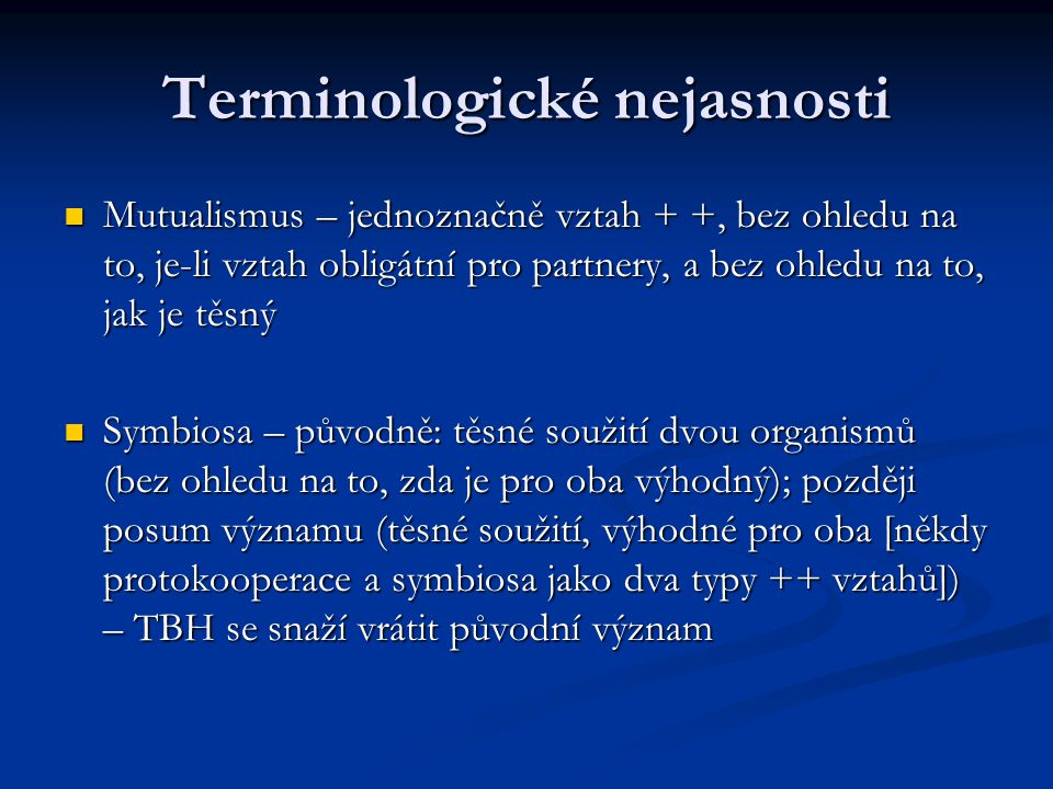 Terminologické nejasnosti