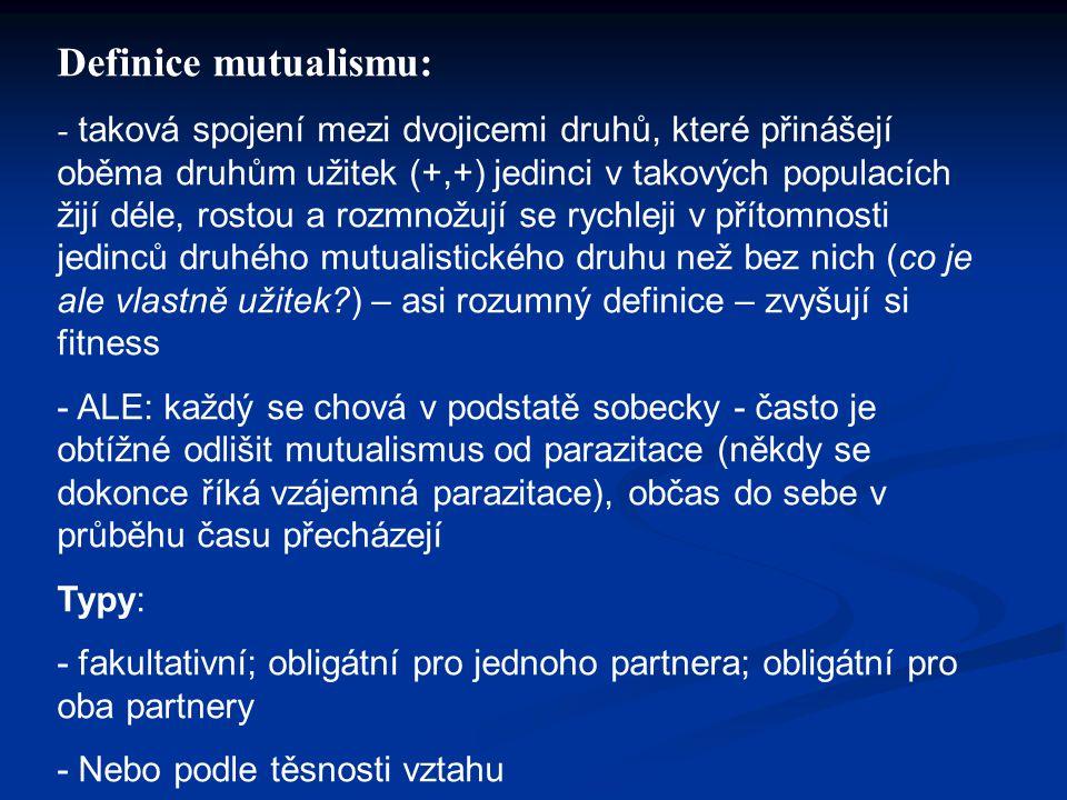 Definice mutualismu:
