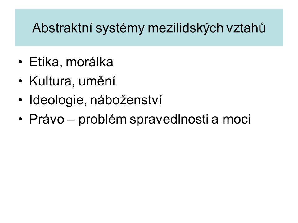 Abstraktní systémy mezilidských vztahů