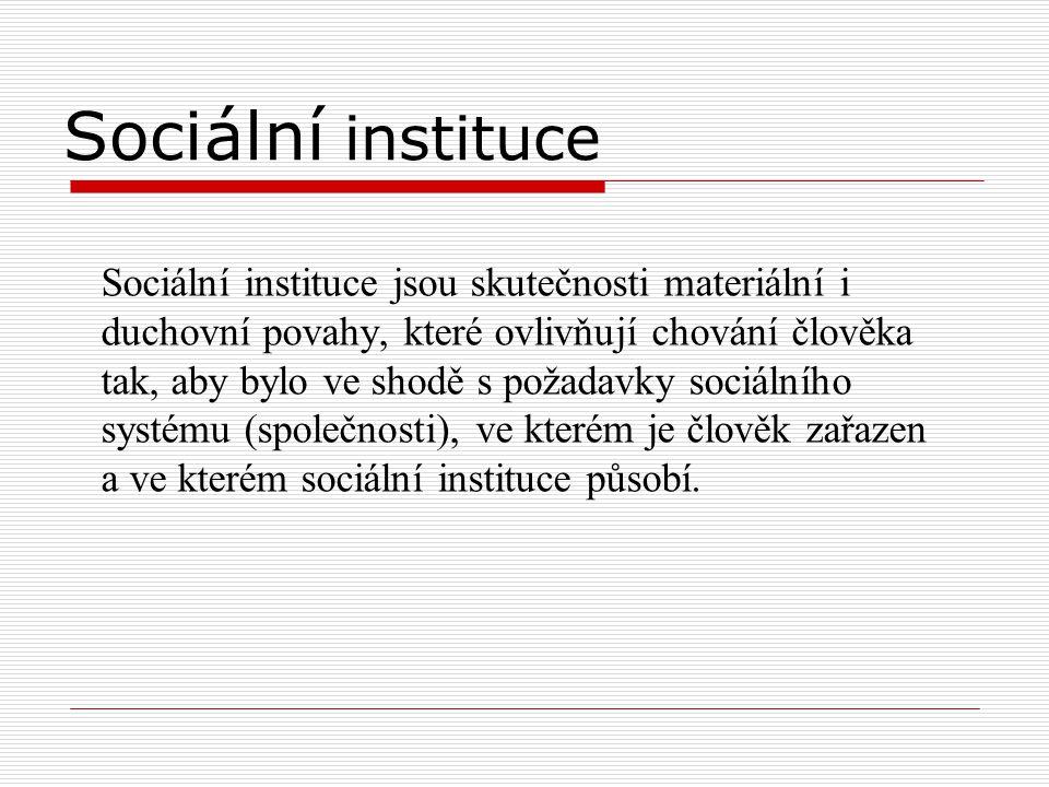 Sociální instituce