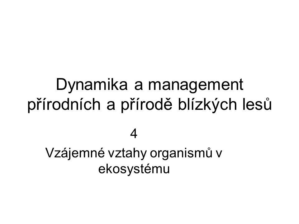 Dynamika a management přírodních a přírodě blízkých lesů