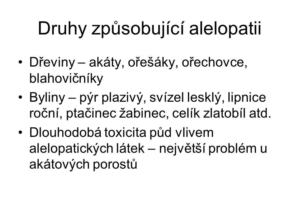 Druhy způsobující alelopatii