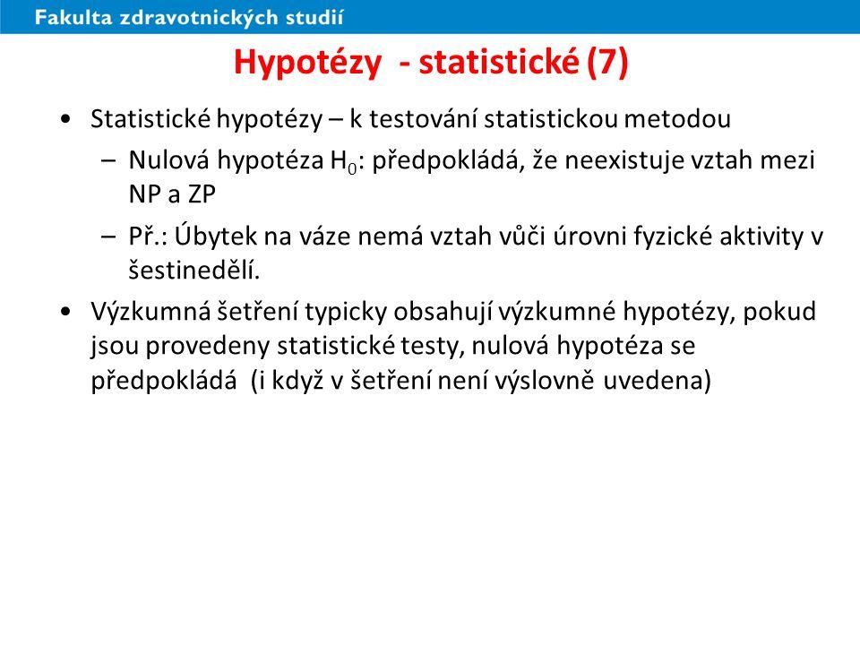 Hypotézy - statistické (7)