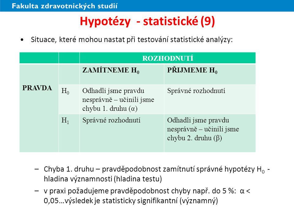 Hypotézy - statistické (9)