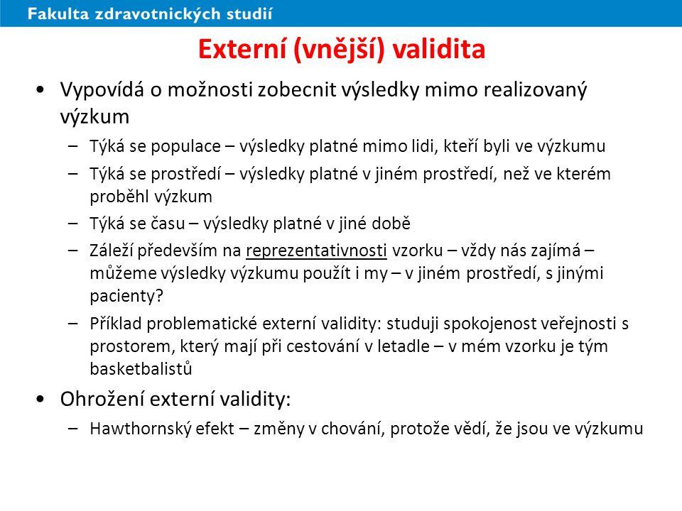 Externí (vnější) validita