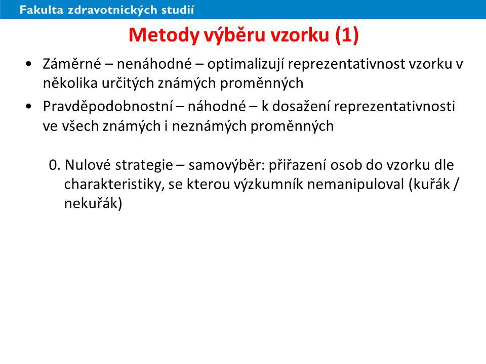 Metody výběru vzorku (1)