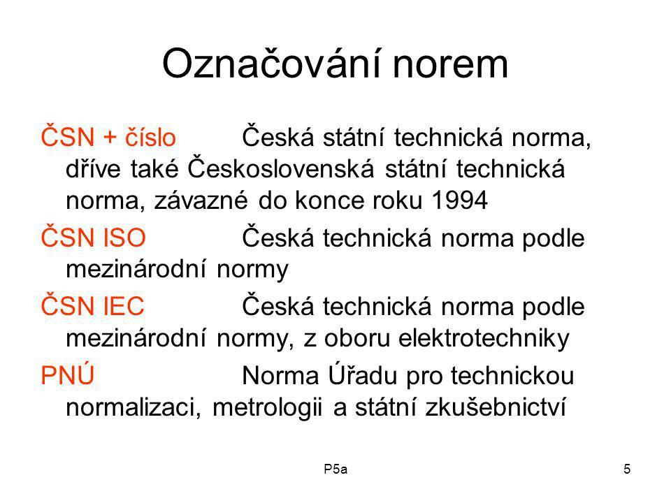 Označování norem ČSN + číslo Česká státní technická norma, dříve také Československá státní technická norma, závazné do konce roku 1994.