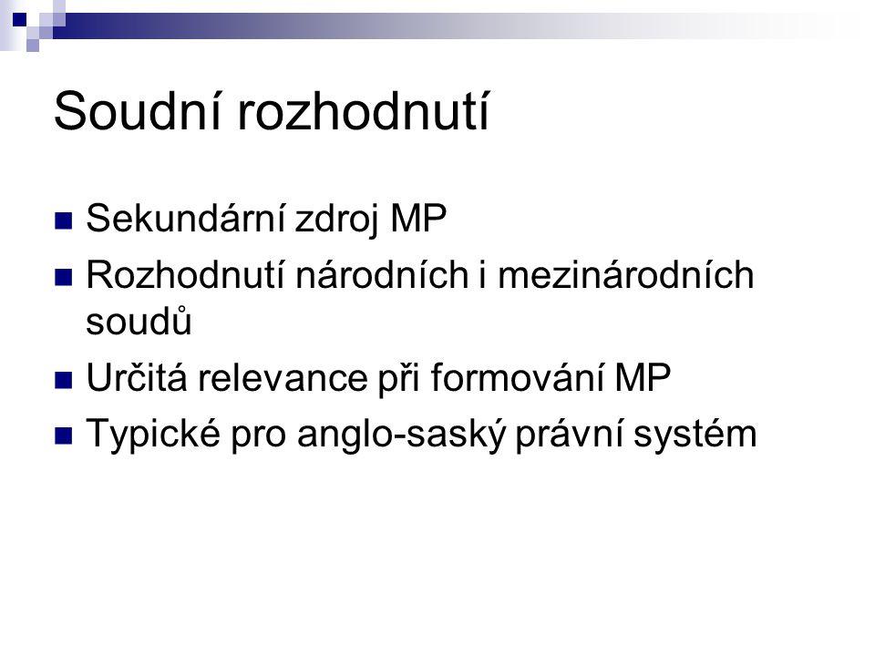 Soudní rozhodnutí Sekundární zdroj MP