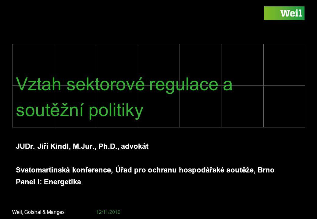 Vztah sektorové regulace a soutěžní politiky