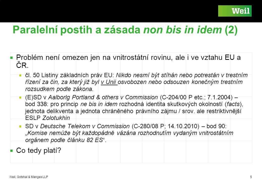 Paralelní postih a zásada non bis in idem (2)