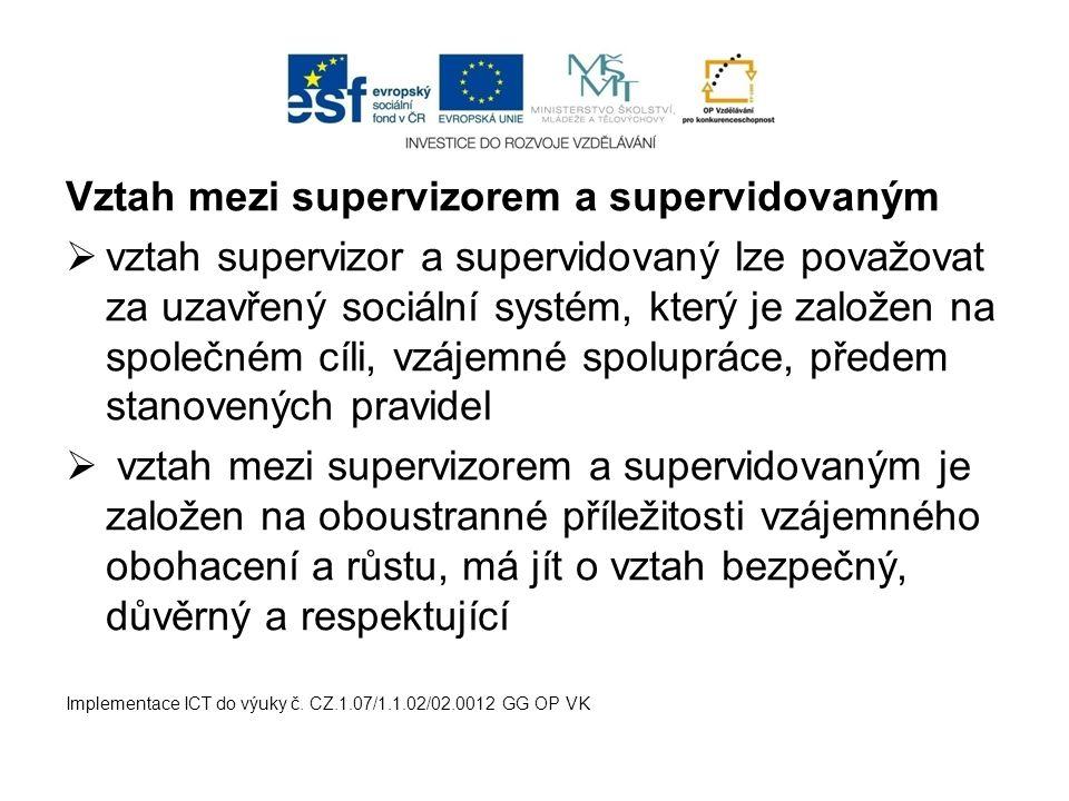 Vztah mezi supervizorem a supervidovaným