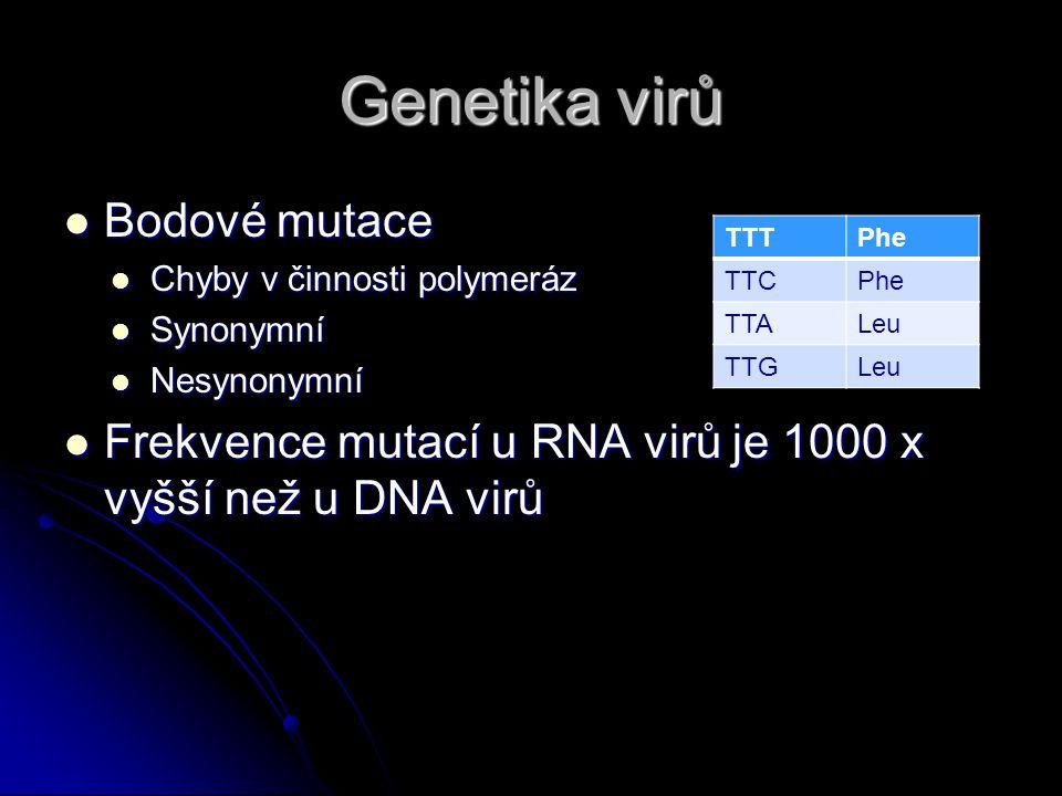 Genetika virů Bodové mutace