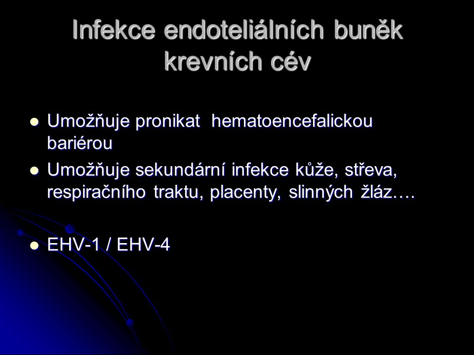 Infekce endoteliálních buněk krevních cév