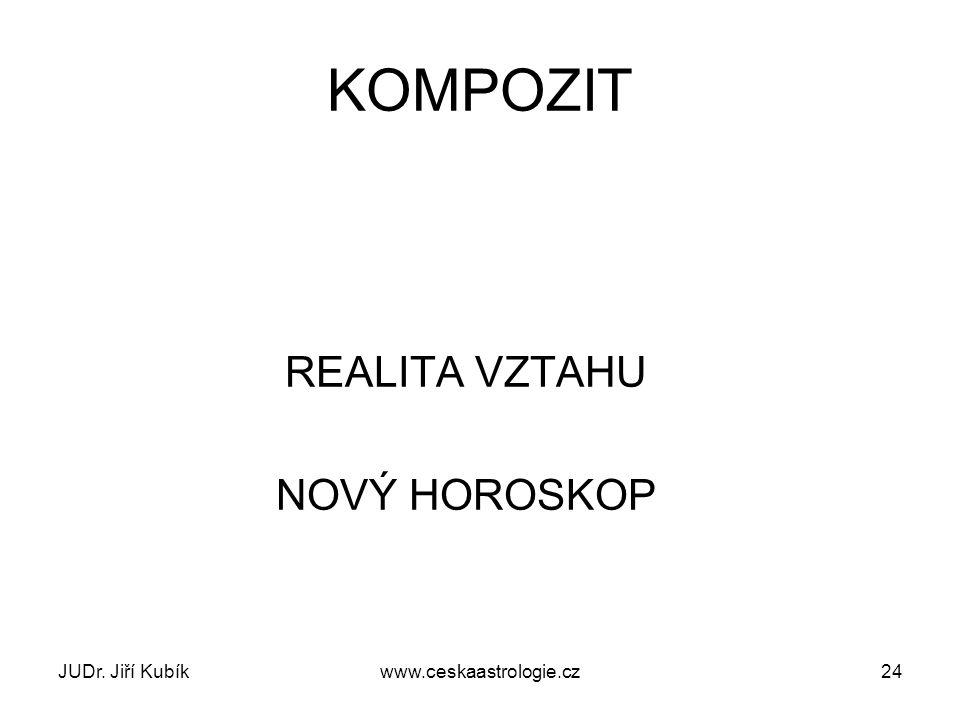 KOMPOZIT REALITA VZTAHU NOVÝ HOROSKOP JUDr. Jiří Kubík