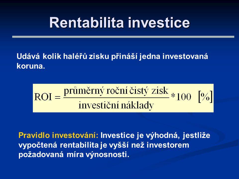 Rentabilita investice