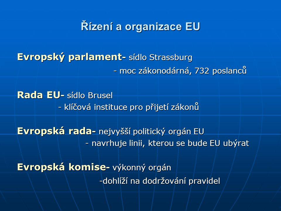 Řízení a organizace EU Evropský parlament- sídlo Strassburg