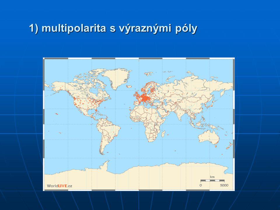 1) multipolarita s výraznými póly