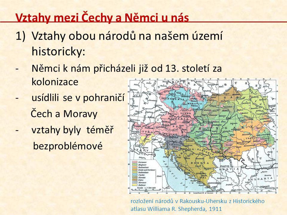 Vztahy mezi Čechy a Němci u nás