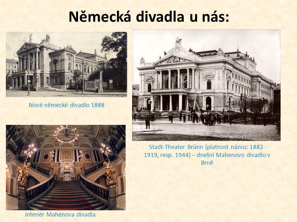 Německá divadla u nás: Nové německé divadlo 1888