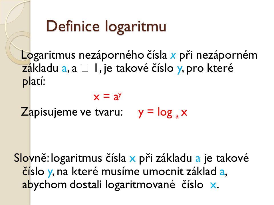 Definice logaritmu