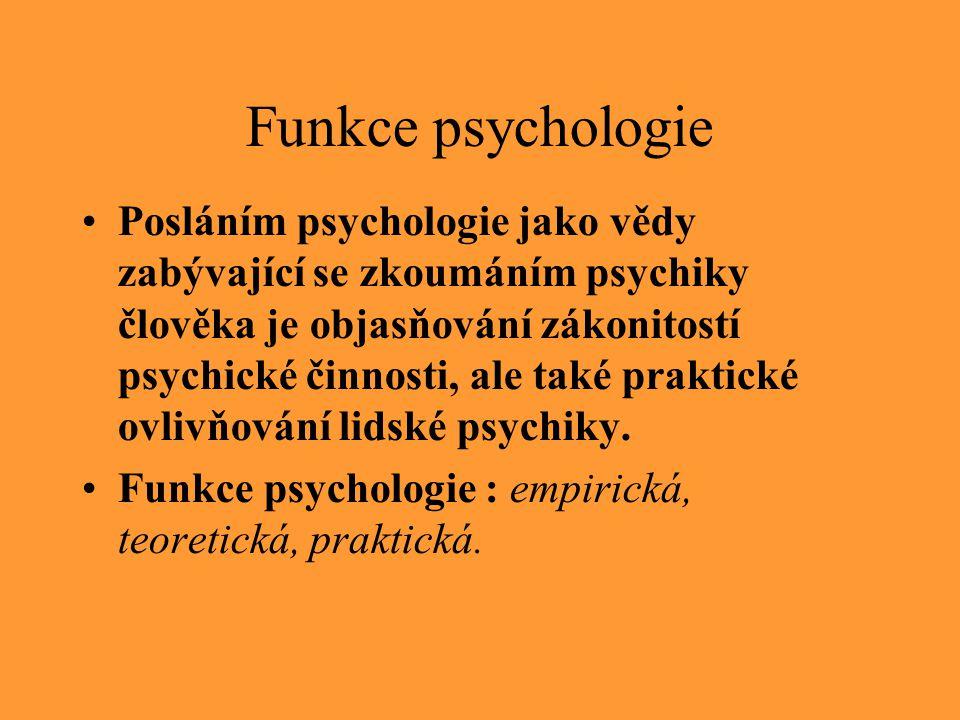 Funkce psychologie