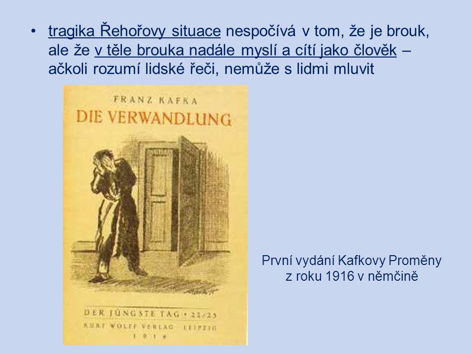 První vydání Kafkovy Proměny z roku 1916 v němčině