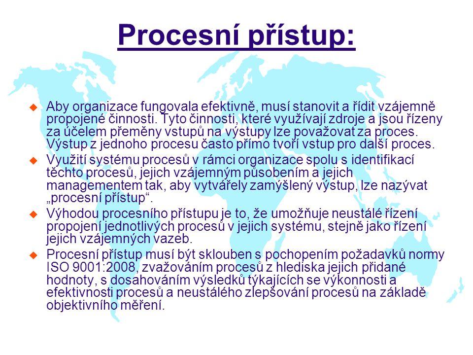 Procesní přístup: