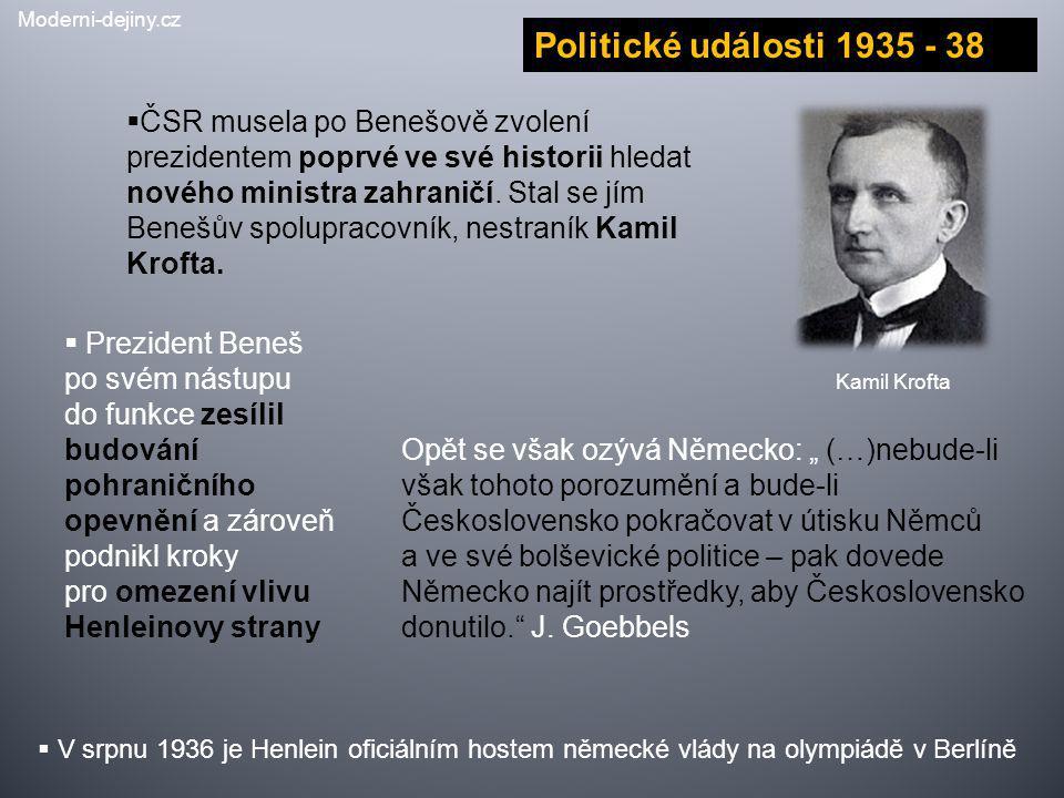 Moderni-dejiny.cz Politické události 1935 - 38.