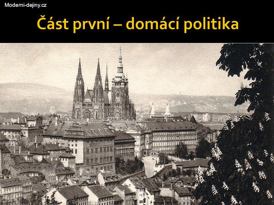 Část první – domácí politika