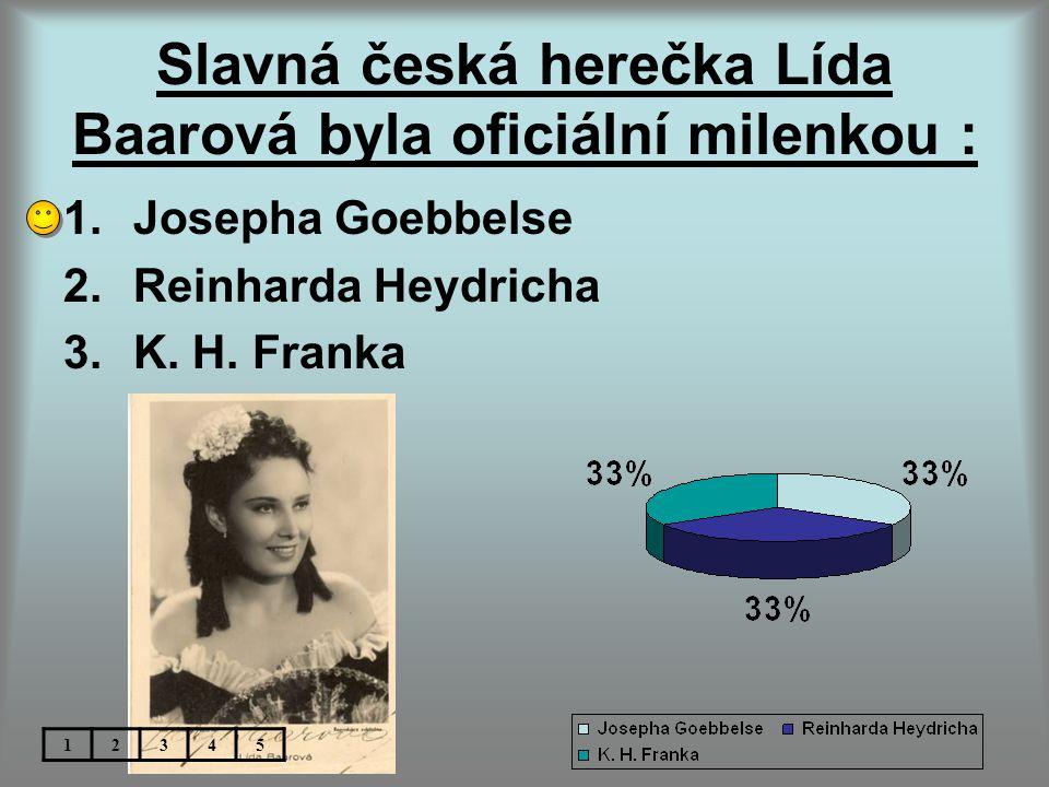 Slavná česká herečka Lída Baarová byla oficiální milenkou :