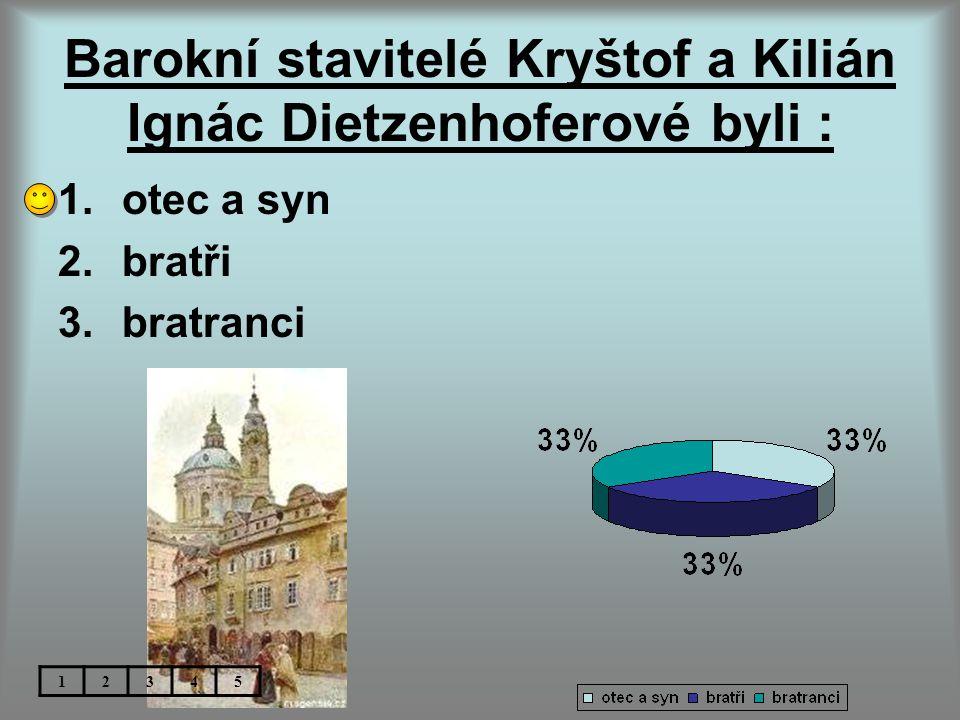 Barokní stavitelé Kryštof a Kilián Ignác Dietzenhoferové byli :