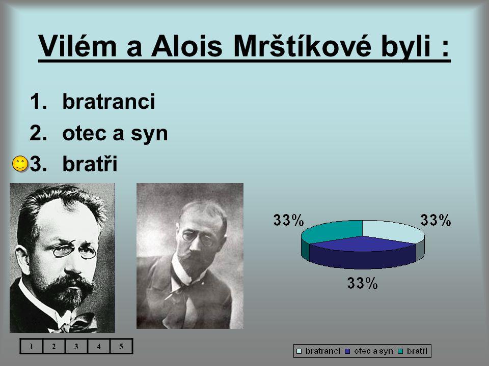Vilém a Alois Mrštíkové byli :