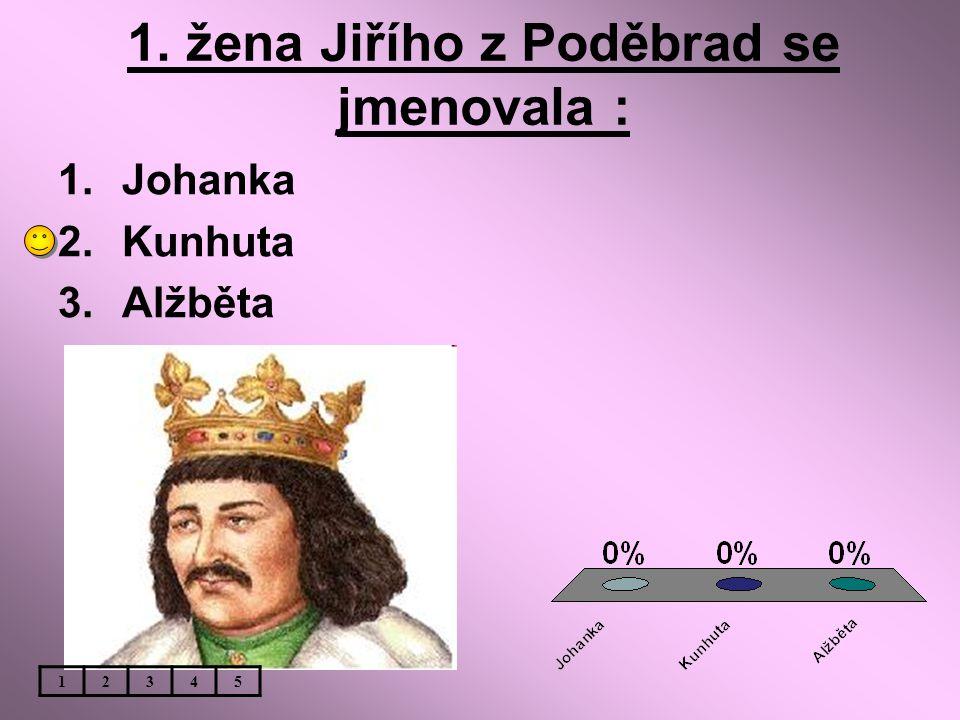 1. žena Jiřího z Poděbrad se jmenovala :