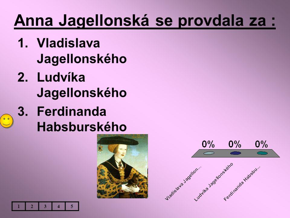 Anna Jagellonská se provdala za :