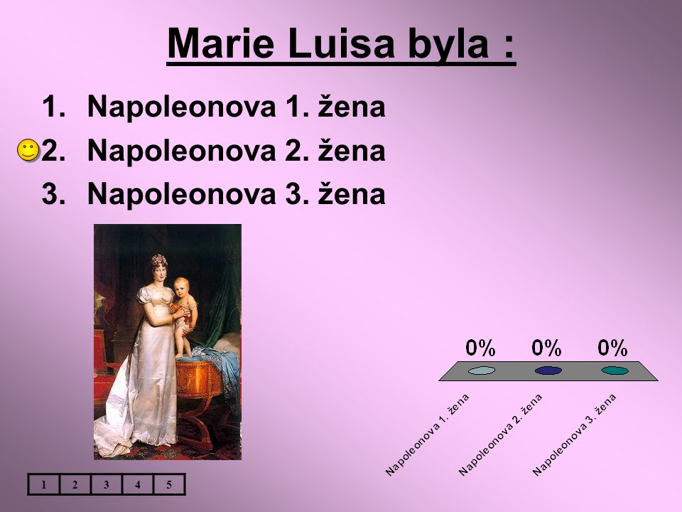 Marie Luisa byla : Napoleonova 1. žena Napoleonova 2. žena