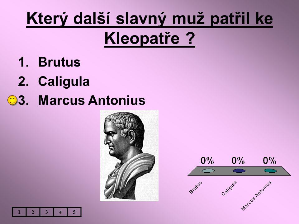 Který další slavný muž patřil ke Kleopatře