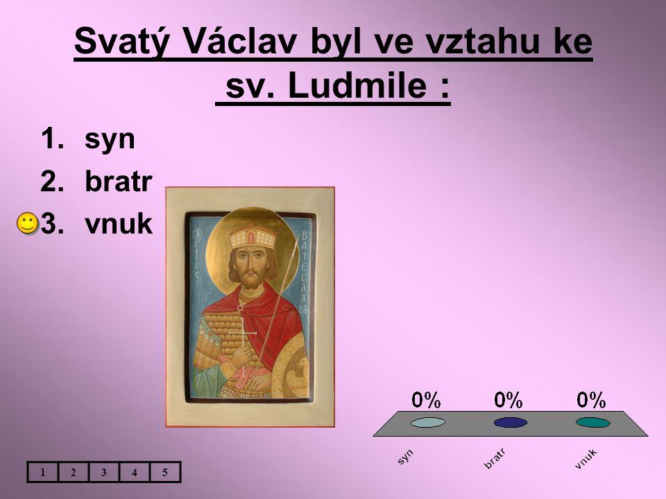 Svatý Václav byl ve vztahu ke sv. Ludmile :