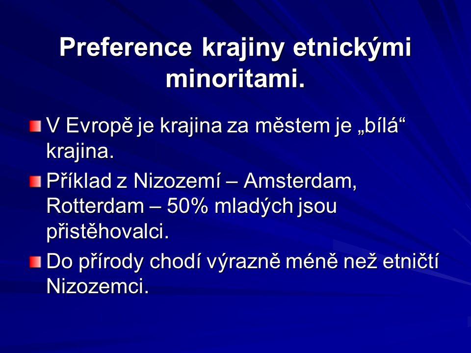Preference krajiny etnickými minoritami.