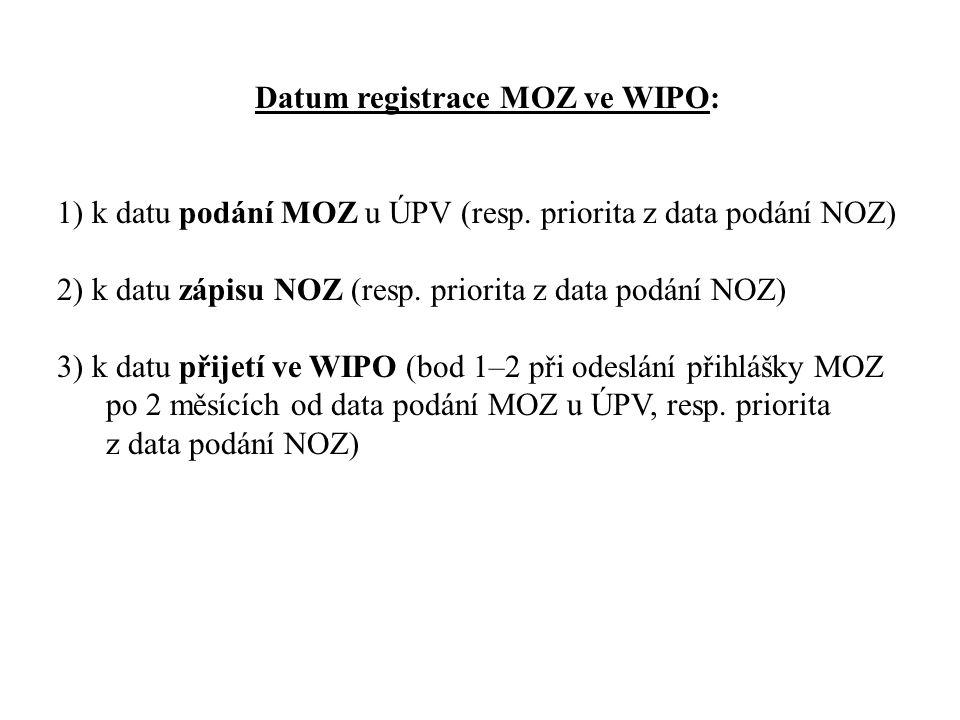 Datum registrace MOZ ve WIPO:
