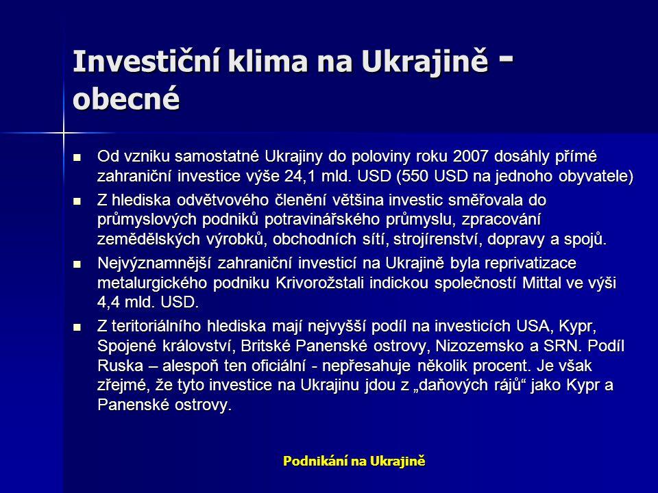 Investiční klima na Ukrajině - obecné