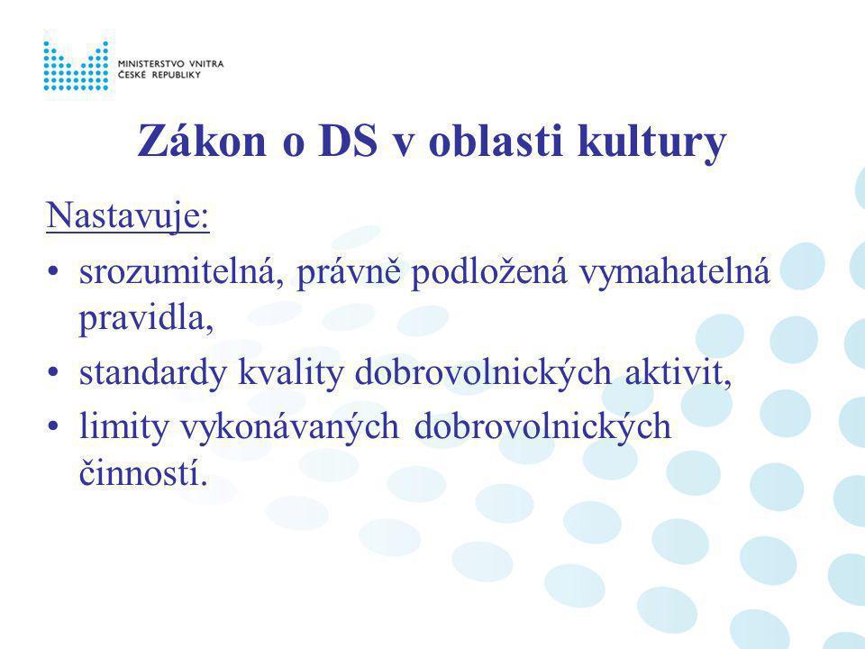 Zákon o DS v oblasti kultury